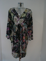 multi col butterfly dress
