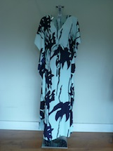 palm print beach long dress