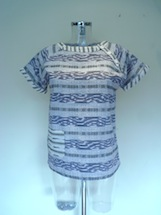 cotton printed front pocket Aztec top