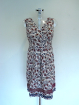 beaded paisley cotton dress