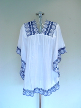 angel sleeve beach kaftan